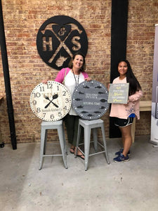 "November 14th SEMI-PRIVATE -  1 pm-Kristen's 36"" Large Clock Workshop"