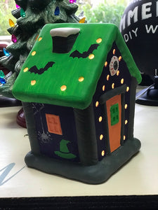 Ceramic Haunted House - Lighted!
