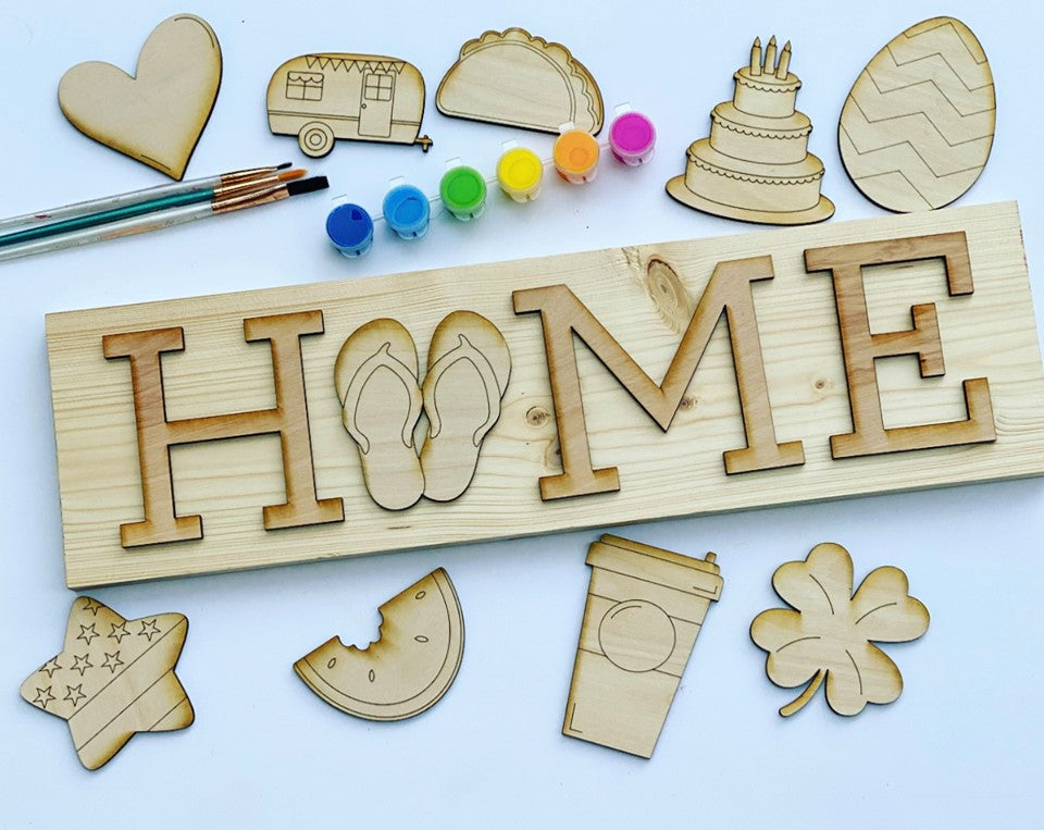 Order now - WE PAINT FOR YOU: Interchangeable Home Sign  6