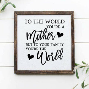 "Mother 12"" x 12"" Framed Sign: please tell us the colors you want in the customization field"