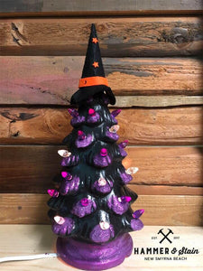 October 5th Saturday at 1 pm Halloween Ceramic Tree Workshop