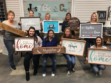 Load image into Gallery viewer, August 10th Saturday at 6 pm-Mom's night out- Pick Your Project Workshop