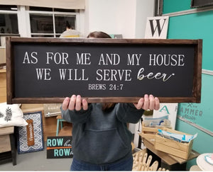 "12"" x 24"" Framed Signs"