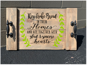 December 24th at 12 pm Christmas party workshop -Farmhouse Tray