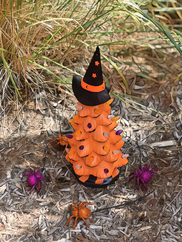 October 6th PUBLIC-Sunday at 11 AM Jack O' Lanterns and  Halloween Ceramic Tree/ Pick your project  Workshop