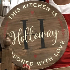"December 24th at 12 pm Christmas Party -Round signs 18' and 24""  Workshop"