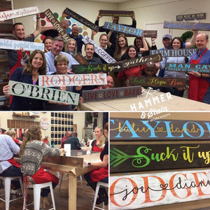 August 10th Saturday at 6 pm-Mom's night out- Pick Your Project Workshop