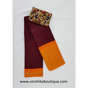 Madurai Sungudi pure cotton saree paired with blouse - Vinshika