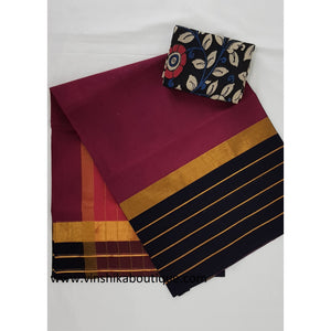 Kanchi cotton saree with blouse - Vinshika
