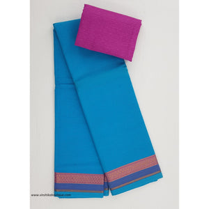 Mangalagiri cotton saree with blouse