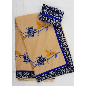 Patch work cotton saree