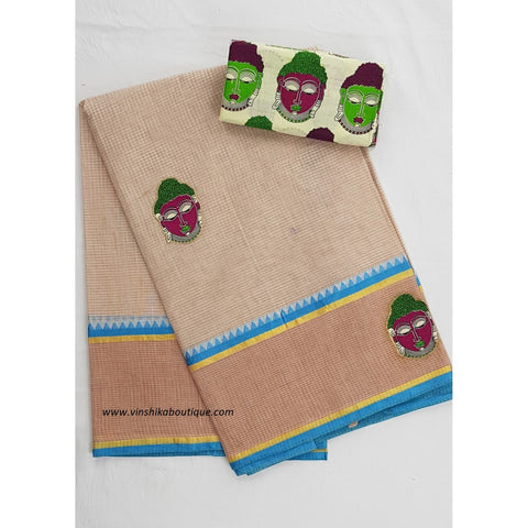 Patch work cotton saree - Vinshika
