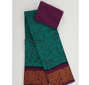 Madurai Sungudi printed pure cotton saree - Vinshika