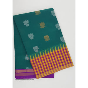 Green and Pink color Mini Kuppadam Saree - Vinshika