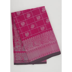 Pink and Green color Mini Kuppadam Saree - Vinshika