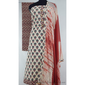 Bagru hand block printed cotton Salwar Set - Vinshika