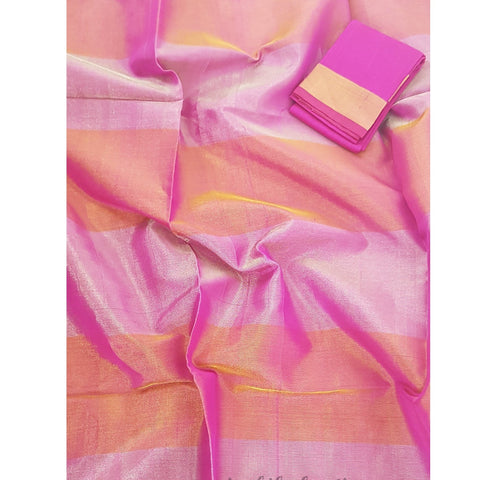 Handwoven Uppada Tissue Pattu Saree