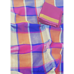 Multi Checks Handwoven Uppada Pattu Saree - Vinshika