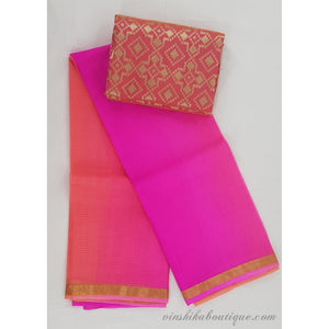 Pure Kota Silk double shaded saree - Vinshika