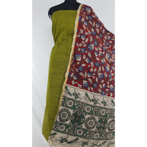 Kalamkari silk dupatta with mangalagiri Cotton top / Salwar set
