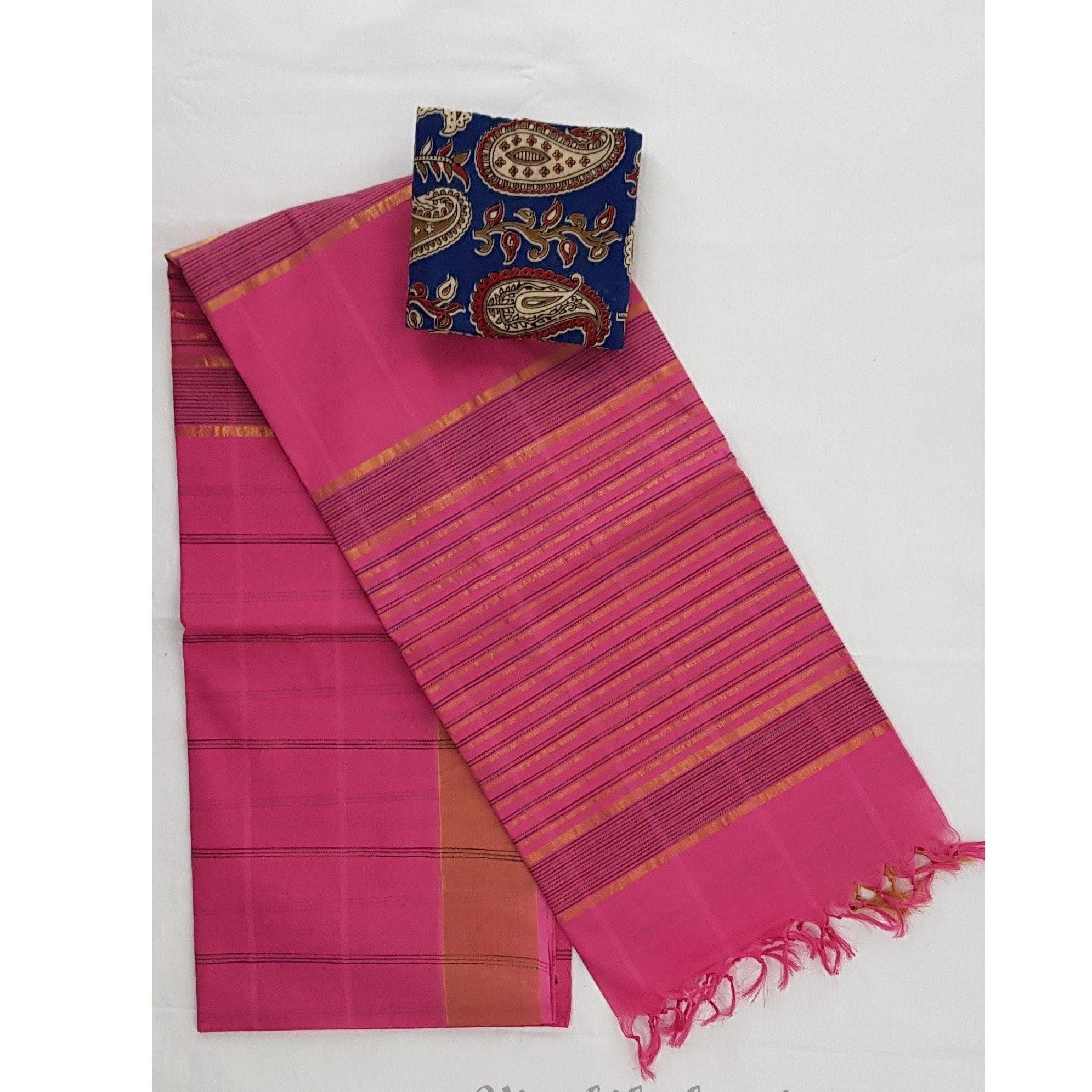 Pink color Jute cotton saree - Vinshika