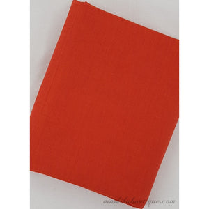 Scarlet colour plain Mangalagiri handloom cotton fabric - Vinshika
