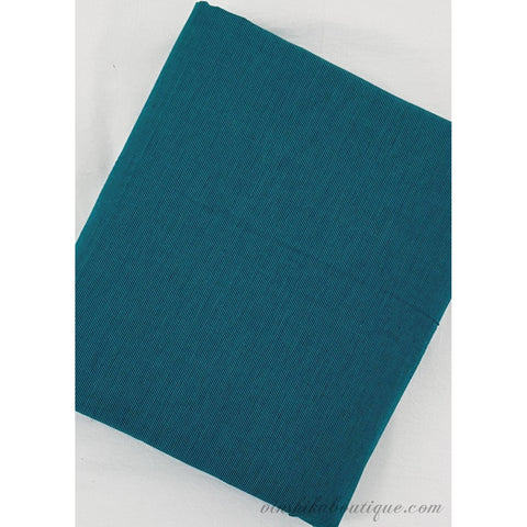 Blue colour plain Mangalagiri handloom cotton fabric - Vinshika
