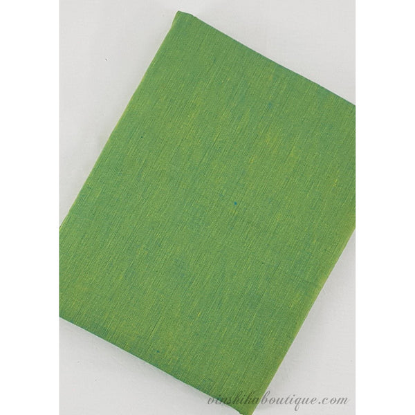 Green colour shaded Mangalagiri handloom cotton fabric - Vinshika