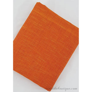 Orange colour shaded Mangalagiri handloom cotton fabric - Vinshika