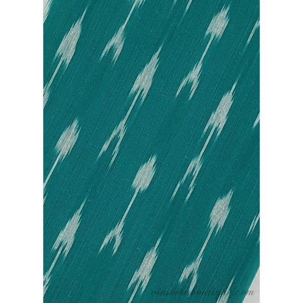 Peacock Blue colour Ikat handloom cotton fabric
