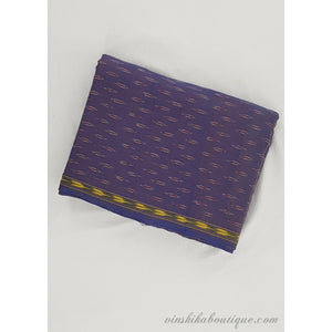 Violet color Ikat handloom cotton fabric - Vinshika