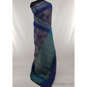 Blue color SICO fancy saree - Vinshika