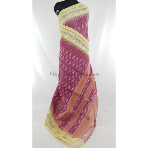 Handloom sambalpuri ikat pure cotton saree, no blouse.