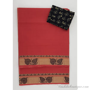 Kanchi cotton saree with thread border - Vinshika