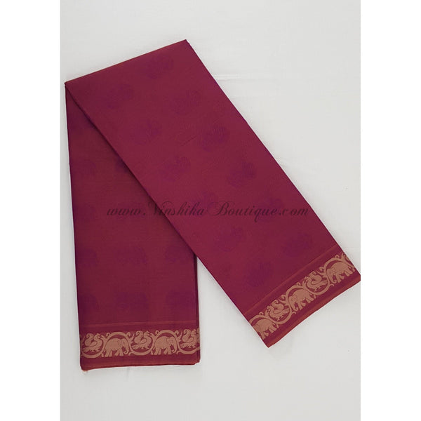 Kanchi cotton saree all over jacquard weaving with thread border - Vinshika