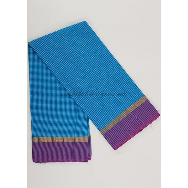 Mangalagiri cotton saree with blouse - Vinshika