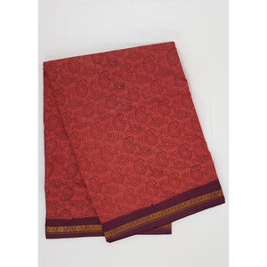 Madhurai Sungudi 9 Yards printed pure cotton saree - Vinshika