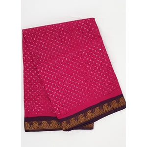 Madhurai Sungudi 9 Yards polka dots pure cotton saree - Vinshika