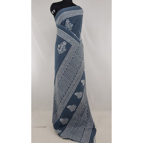 Bagru cotton saree - Vinshika