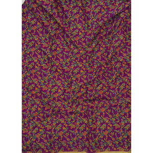 Purple color floral printed chiffon saree
