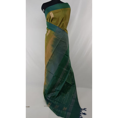 Capers Color Handwoven Chinnalapattu saree - Vinshika