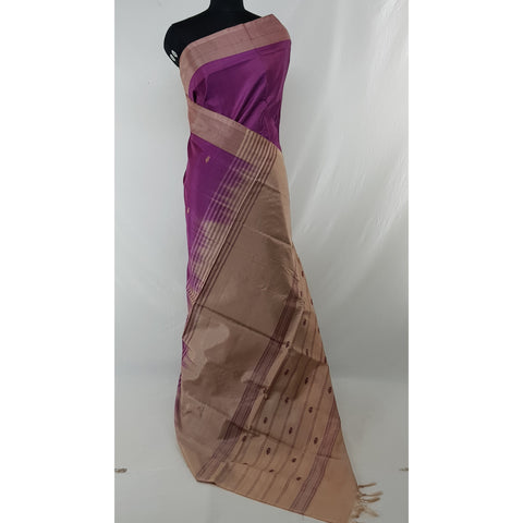Falsa Color Handwoven Chinnalapattu saree - Vinshika