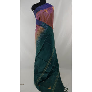 Light Brinjal Color Handwoven Chinnalapattu saree - Vinshika