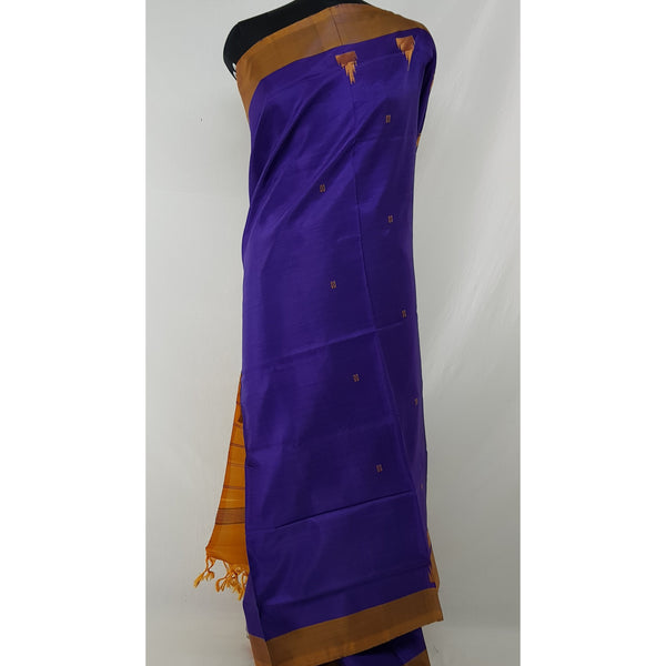 Royal Blue Color Handwoven Chinnalapattu saree - Vinshika