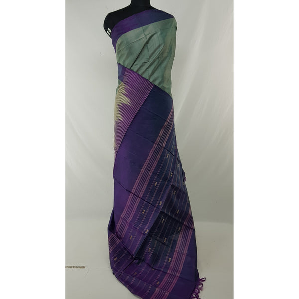 Melange Color Handwoven Chinnalapattu saree - Vinshika