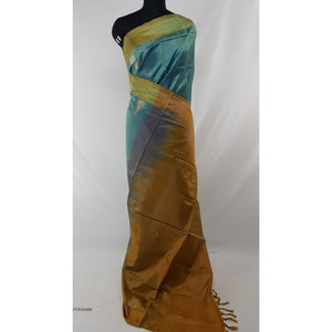 Aqua Blue Color Handwoven Chinnalapattu saree - Vinshika