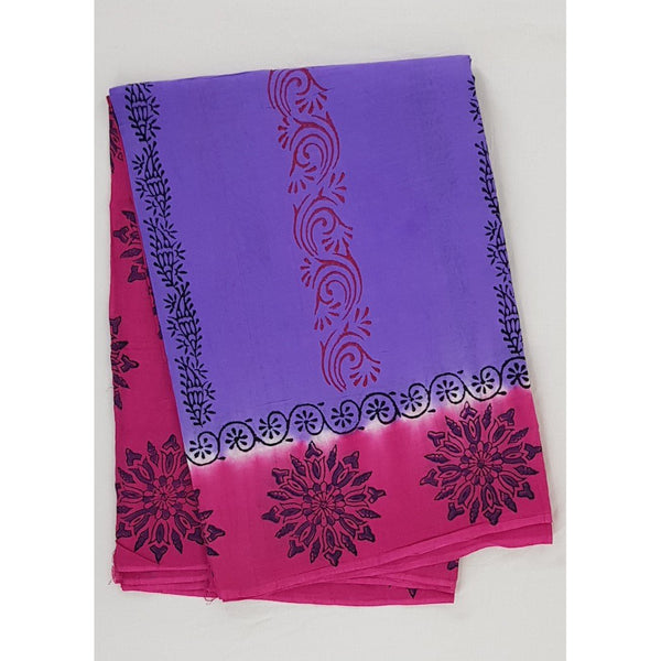 Handprinted Cotton saree - Vinshika