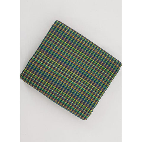 Madras checks Kantha cotton fabric - Vinshika