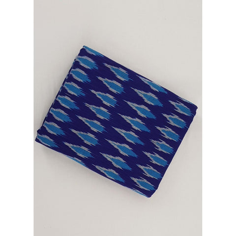True Blue Color Handwoven Ikat cotton fabric - Vinshika
