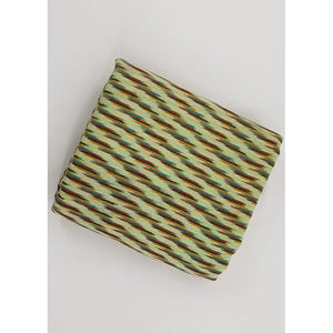 Light Olive Color Handwoven Ikat cotton fabric - Vinshika